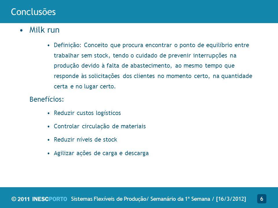 Sistemas Flexíveis de Produção/ Semanário da 1ª Semana / [16/3/2012]
